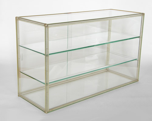 Charmant Lucite Frame And Glass Table Top Display Case